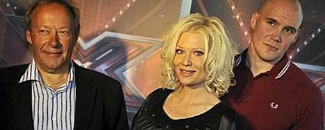 Gugi Kokljuschkin, Linda Lampenius-Cullberg ja Renne Korppila pääsevät hiomaan X Factor -kilpailijoista timantteja.