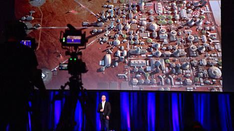 Elon Musk hahmotteli Mars-siirtokuntaa Australian Adelaidessa pitämässään puheessa.
