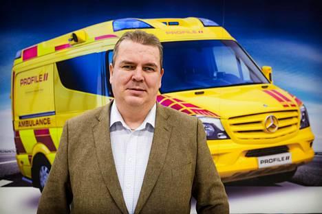Toimitusjohtaja Marko Repo vastaa yhä Profilen ambulanssien markkinoinnista. Kauppoja on tehty niin Putinin hallinnon kanssa kuin rikkaisiin Persianlahden maihin.
