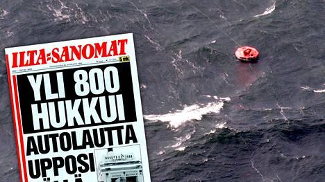 Matkustajalautta Estonia upposi 28.9.1994 Utön edustalla.