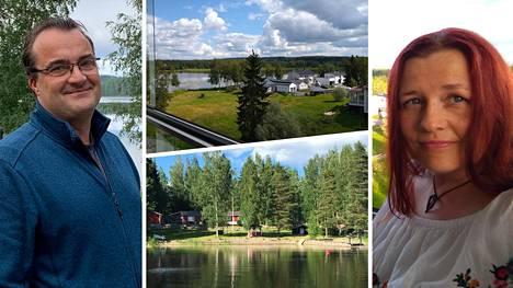 Jarkko Ursin ja Kati Valonen muuttivat kaupungin vilskeestä maaseutumaisempaan ympäristöön.
