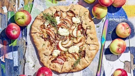 Omena-sipuligalette on muodoltaan ihanan rento. Rapea pohja ja mehevä täyte tekevät siitä vastustamattoman.