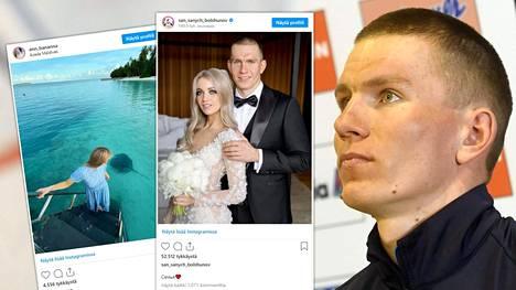 Aleksander Bolshunov ja Anna Zherebjatjeva viettävät kuherruskuukautta kaukana hiihtoladuista.