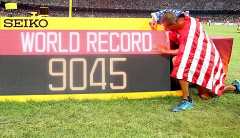Eatonin maailmanennätys jäi Pekingin MM-kisojen ainoaksi ME:ksi.