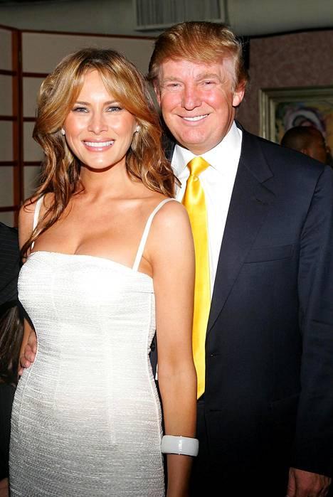 Melania ja Donald Trump toukokuussa 2005.