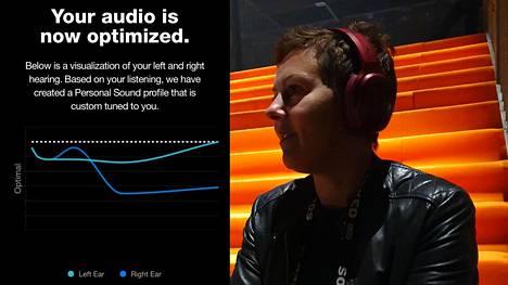 Ruotsalainen Jenny Strömberg vetää henkilökohtaista äänenmuokkausta tekevää Audiodo-yritystä.