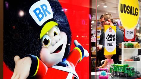 Top-Toy omisti muun muassa BR-lelut. Kuva roskildelaisen liikkeen loppuunmyynnistä joulukuun lopussa.