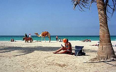 Eksoottisessa Dubaissa on suomalaisten unelmien ranta.