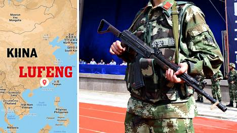 Lufengissa, Guangdongin provinssissa järjestettiin julkinen oikeudenkäynti stadionilla.
