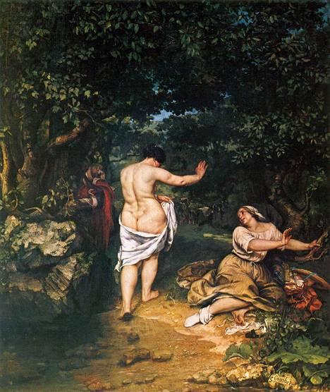 Courbet maalasi usein naisia.