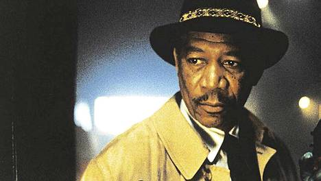 Morgan Freeman teki yhden huippurooleistaan elokuvassa Seitsemän.