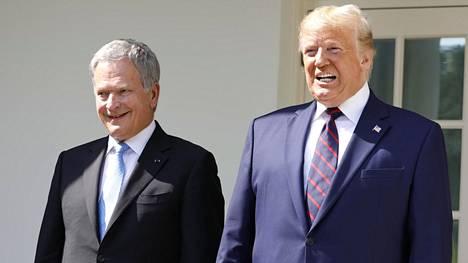 Tasavallan presidentti Sauli Niinistö tapasi presidentti Donad Trumpin valkoisessa talossa.