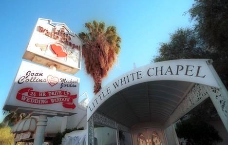 """Tässä lasvegasilaisessa kappelissa Britney Spears sanoi """"tahdon""""."""