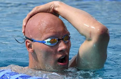 Matti Mattsson valmistautuu toistaiseksi hämärän peitossa oleviin kesäolympiakisoihin Porin naapurikaupungissa Harjavallassa.