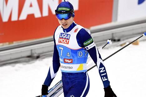 Eero Hirvonen oli Suomen joukkueen ankkuri lauantaina.