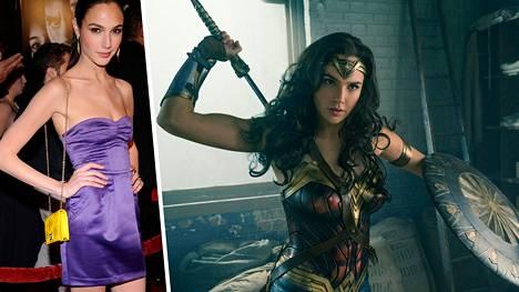 Gal Gadot treenasi ahkerasti Wonder Woman -elokuvaa varten. Vasemmalla näyttelijätär vuonna 2009.