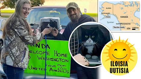 Panda-kissa pääsi kotiin matkattuaan 4000 kilometriä edestakaisin.