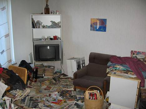Vuokralainen ei koskaan noutanut tavaroitaan asunnosta.
