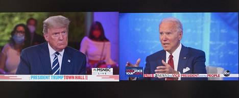 Trumpin tilaisuuden järjesti NBC ja Bidenin ABC.