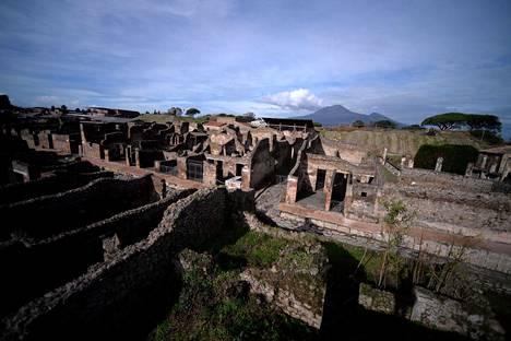 Yleiskuvaa Pompeijista.