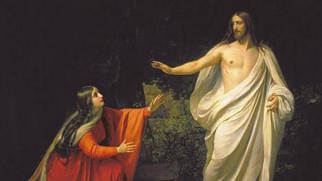 Magdalan Maria ja Jeesus venäläisen maalarin Aleksandr Andrejevitsh Ivanovin maalauksessa.