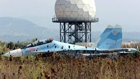 Venäjän Su-30CM-hävittäjä Syyriassa.