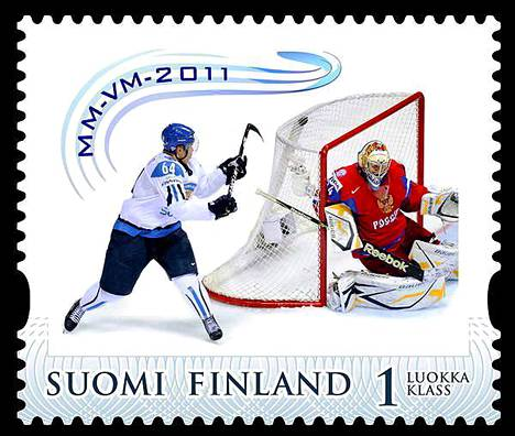Mikael Granlundin ilmaveivimaalin kunniaksi julkaistiin postimerkki.