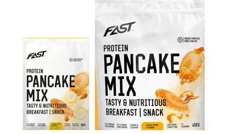 Takaisinveto koskee tuotteiden FAST Protein Pancake Mix banana-toffee ja FAST Protein Pancake Mix maple syrup tiettyjä eriä.