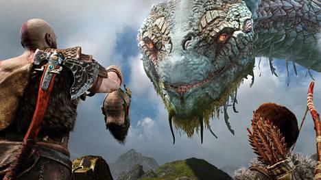 Maailmankäärme Jörmungandr on niin iso, että sen kroppa kiertää koko ihmisten asuttaman maailman.