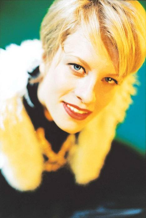 Laura Voutilainen kuvattuna tammikuussa 1996.