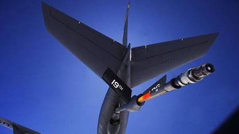 Arkistokuva KC-135 Stratotanker -lentokoneesta.