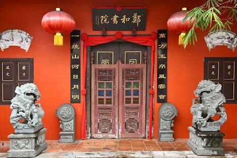 Chinatownista löytyy kaunista arkkitehtuuria ja kiinalaisia koriste-elementtejä.