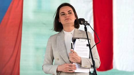 Valko-Venäjän viime elokuun presidentinvaalien tosiasiallisena voittajana pidetty Svjatlana Tsihanouskaja on maanpaossa Liettuassa.