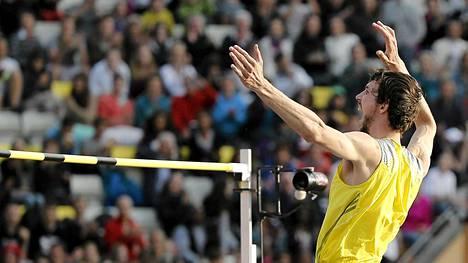 Bohdan Bondarenko oli mahtavassa vedossa korkeuspaikalla.