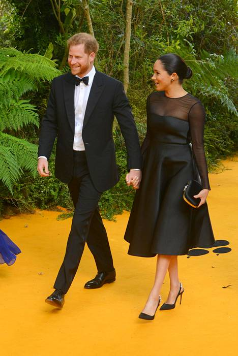 Harry ja Meghan osallistuivat Leijonakuningas-elokuvan ensi-iltaan viime heinäkuussa.