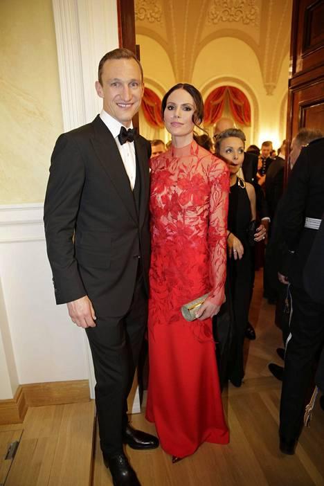 Sami Hyypiä ja vaimo Susanna.