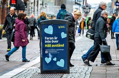 Uppsalan kaduilla varoitettiin tartuntavaarasta tällä viikolla.