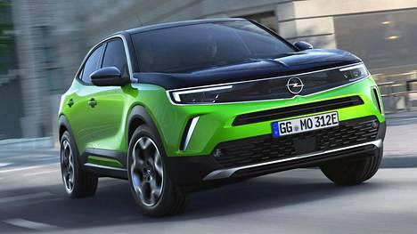 Uudessa Mokka-e:ssä paljastuu Opelin uusi, aiempaa voimakkaampi keulailme.