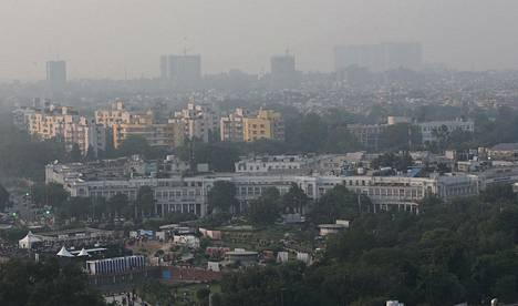 Savusumu on tehnyt New Delhin ilmasta harmaan.