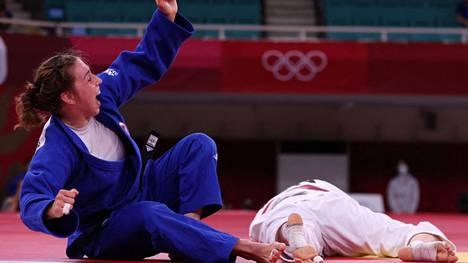 Catherine Beauchemin-Pinard voitti olympialaisten pronssiottelussa Venezuelan Anriquelis Barriosin.