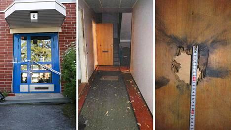 Pommin räjähti asunnon ovella Espoon Mäkkylässä 25. toukokuuta.