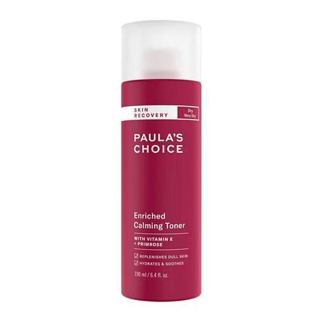 Ihonhoitoguru Paula Begounin luotsaamalla Paula's Choice -ihonhoitomerkillä on tonereita moneen lähtöön. Tämä on tarkoitettu hyvin kuivalle iholle, mutta omansa löytyvät myös rasvaiselle ja sekaiholle. Skin Recovery Enriched Calming Toner, 26 € / 190 ml, Skincity.fi.