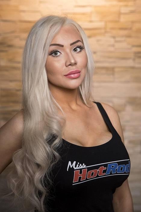 Marianne Kallio kilpaili Miss Hot Rod -kilpailussa viime vuonna.