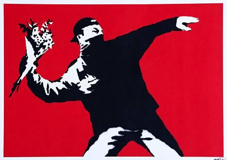 Love is in the Air (Rakkautta ilmassa) on yksi Banksyn tunnetuimmista töistä. Se on ajankohtainen viesti rauhan puolesta Palestiinassa. Kukkapuskan heittäjä ilmestyi graffitina muurin seinään Länsirannalla Betlehemissä jo 2003.