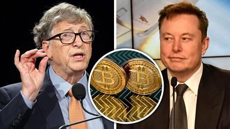 Bill Gates ja Elon Musk suhtautuvat hyvin eri tavoin virtuaalivaluuttoihin.