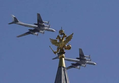 Tupolev Tu-95MS -pommikoneet suorittivat ylilennon.
