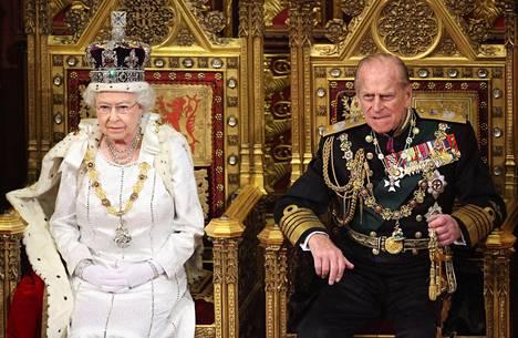 Kuningatar Elisabet ja prinssi Philip vuonna 2012.