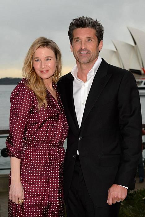 Zellweger nähdään uudessa Bridget Jone's Baby -elokuvassa Greyn anatomiasta tutun komistuksen, Patrick Dempseyn kanssa.