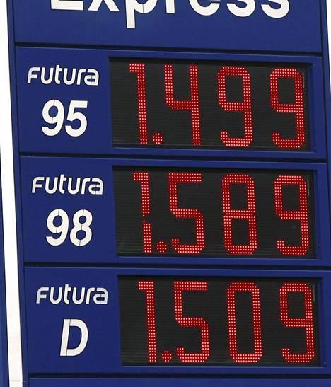 Neste Express Upinniementiellä Kirkkonummella diesel maksoi enemmän kuin 95-bensiini.