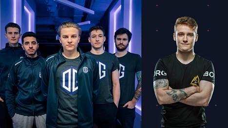 """Aleksi """"Aleksib"""" Virolaisen (joukkuekuvan keskellä) johtama OG nappasi monien yllätykseksi pronssia. Jesse """"zehN"""" Linjala oli turnauksen tähtinimiä."""